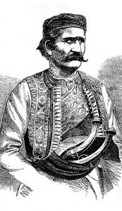 Лука Вукаловић (18. октобар 1823. - 6. јул 1873), вођа српског устанка у Херцеговини 1852 - 1862. Преузето са www.staresrpskeslike.com.