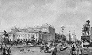 Петроград, Русија, у другој половини 19. века. Слика Василија Садовникова