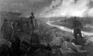 Батачки масакр Турака над бугарским становништвом 1876. Слика Антона Пјотровског из 1889.