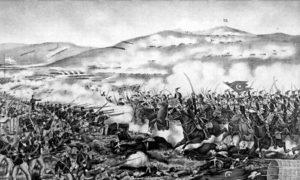Битка за Велестино током грчко-турског рата (3. фебруар – 4 децембар 1897). Слика Карла Хаупта.