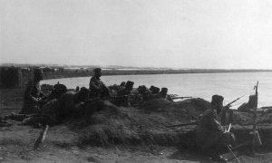 Инжињеријска јединица Тимочке дивизије I позива на обали реке Марице 1912-1913.