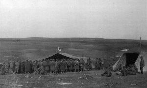 Пред завојиштем Тимочке дивизије I позива код села Ахкеј