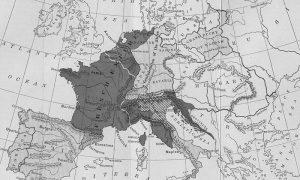 Мапа Европе на врхунцу Наполеонове моћи