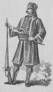 Хаџи Продан Глигоријевић (1760. – 1825), војвода Првог српског устанка и вођа побуне 1814. Илустрација Косте Мандровића