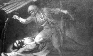 Карађорђева смрт 26. јула 1817. Слика Ђуре Јакшића.