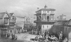 Улице Једрена четрдесетих година 19. века. Гравура из 1838.