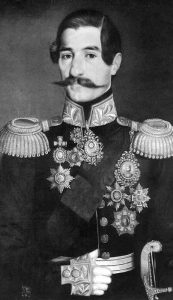 Кнез Александар Карађорђевић (11. октобар 1806. – 3. мај 1885). Уље на платну Уроша Кнежевића