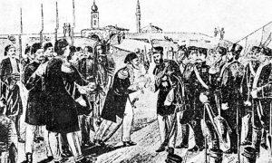 Симболична предаја кључева београдског, смедеревског, шабачког и кладовског града, 6. априла 1867.