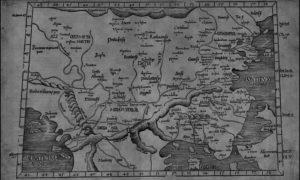 Tabula IX Europae, мапа Балкана из 1535.год. Лоренза Фрајза, Стразбург