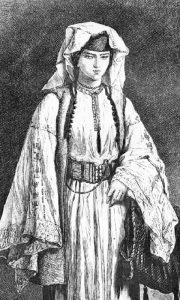 Жена из Брда. Слика Валерија Теодора. Преузето са www.montenegrina.net