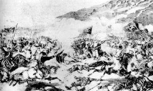 Битка за Моравац 1876. Гравира Бојарског.