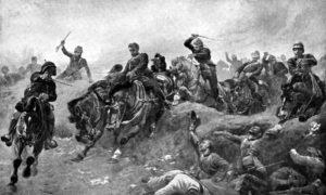 Битка код Тел-ел-Кебира, 13. септембар 1882. Слика Џона Чарлтона.