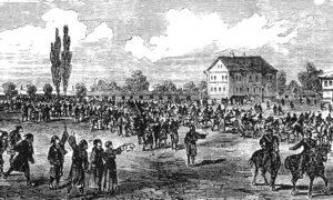 Излазак српске артиљерије на границу према Бугарској, 1885.