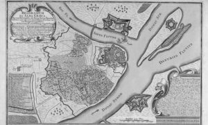 План Београда у 18. веку, гравура Матијаса Шеутера