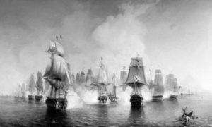 Битка за Атос, 19. – 22. јуна 1807. Слика Алексеја Боголубова из 1853.