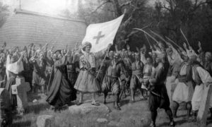 Таковски сабор и почетак Другог српског устанка, 24. април 1815. Слика Паје Јовановића из 1898.