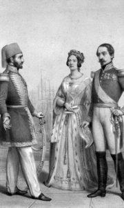 Султан Абдул-Меџид (25. април 1823. – 25. јун 1861.) са британском краљицом Викторијом и председником Француске, Наполеоном III.