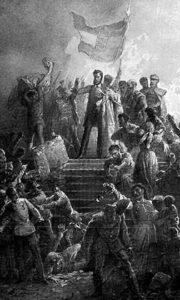 Почетак мађарске револуције 15. марта 1848, која је трајала до 4. октобра 1849.