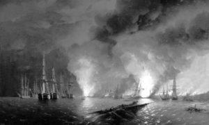 Поморска битка код Синопа, 30. новембар 1853. Уље на платну Ивана Ајвазовског.