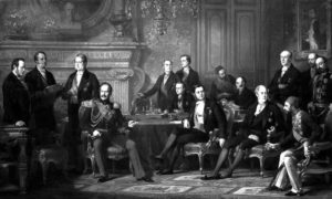 Потписивање париског мира, 30. марта 1856. Слика Едварда Дубуфеа.