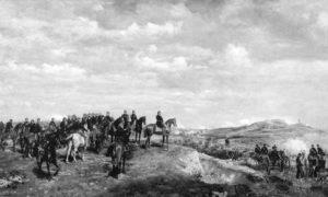 Наполеон III у бици код Солферина, 29. април – 11. јул 1859. Уље на платну Жан Луис Ернест Мејсонера из 1863.