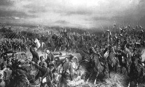 Победа Прусије против Аутрије у бици за Кониграц, 3. јула 1866. Слика Кристијана Села.