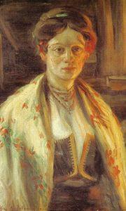 Жена у народној ношњи (Михаило Миловановић)