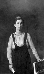 Љубица Марић, супруга генерала Марића, снимак из 1916. године