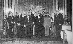 Председник града Београда Живорад Ковачевић са браниоцима Београда 1980. године